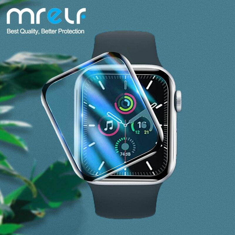 Защита экрана для Apple Watch Series 6 5 4 3 2 1, Защитная пленка для Apple Watch, стекло для защиты экрана 38 мм 40 мм 42 мм 44 мм