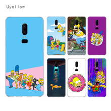 Uyellow Homer Draw Simpson Soft TPU Case For One Plus 7 Pro 6 6T 5 5T Fashion Fundas Printed Cover Silicone Luxury Phone Coque