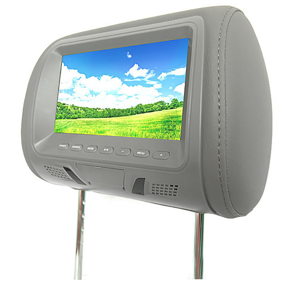 Universal 7 Inch Car Headrest Monitor Rear Seat Entertainment Multimedia MP3/MP4/FM/Video/Muisc/TF Card Player New hot boutique 3