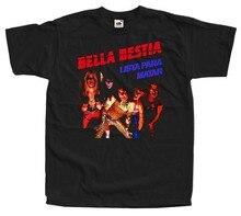 Bella bestia lista para matar t camisa preto 100 algodão todos os tamanhos s 5xl