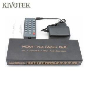 Image 5 - 6x2 HDMI מטריקס Switcher 4K Hdmi 6 כדי 2 מטריקס מתג מתאם אודיו EDID/קשת/ אודיו Extractor, PIP עבור HDTV DVD טלוויזיה במעגל סגור משלוח חינם