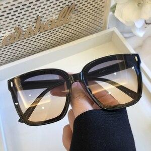Image 5 - 2021 חדש כיכר גדול משקפי שמש נשים יוקרה מותגי משקפי שמש גברים בציר שחור שמש משקפיים גוונים בצבע Goggle UV400