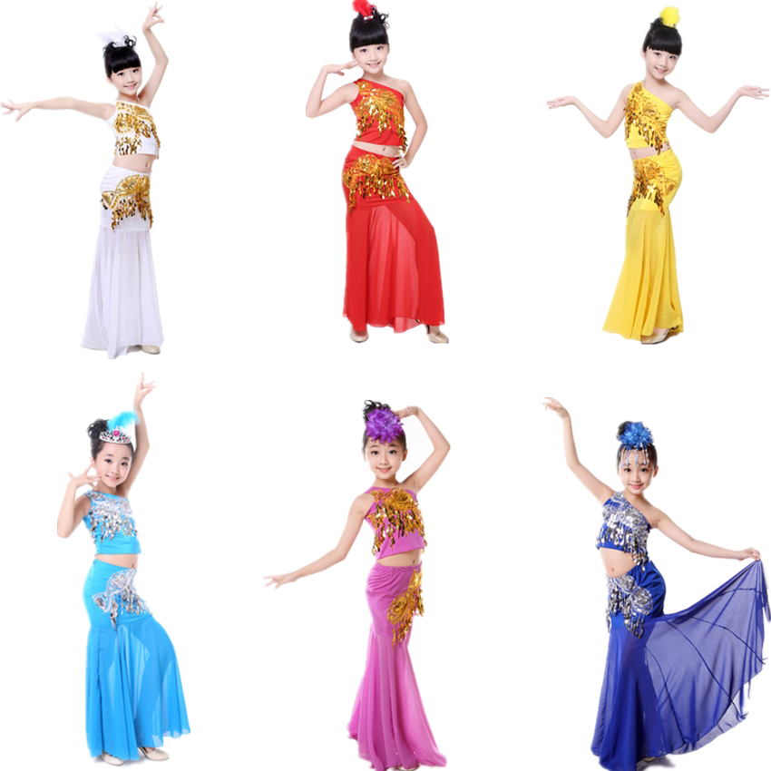 Belly Dance Costume Children's Day Tail Fish Girl Kids Adult Female Dress For Women Sequin Performance Shoulder Off Oriental