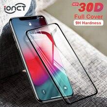 Capa completa 30d vidro protetor de proteção para iphone 7 6s x vidro temperado no iphone 7 8 plus xr xs 11 pro max x protetor de tela