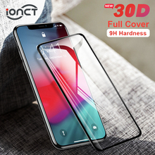 Full Cover 30D Protective Glass For iPhone 7 6 6s X Tempered glass on iPhone 7 8 Plus Xr Xs 11 pro Max X Screen Protector