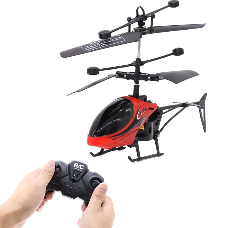 2CH Two-way RC Drone Mini RC Helicopter With LED Light Suspension Induction Electronic Model Remote Control Toys Gifts For Kids 1