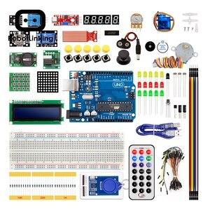 Image 2 - مجموعة أدوات التعلم الإلكترونية التي تعمل بنظام تحديد الهوية بموجات الراديو لألواح Arduino UNO R3 نسخة مطورة مع لوحة الخبز 830 ، LCD1602 IIC I2C