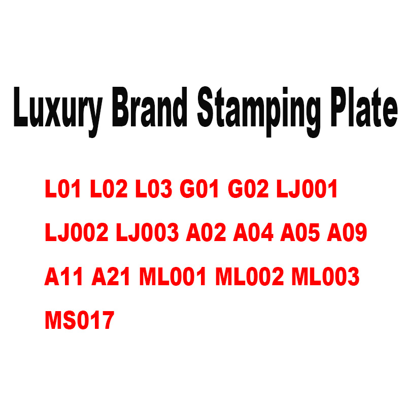 New Fahion Logo Nail Art Stamping Plate Pattern DIY Luxury Brand Manicure Image Template Festival Nails Stencil Tools