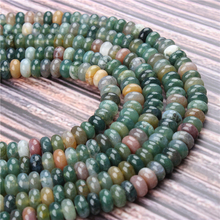 Natural Agate Gem 5x8x4x6MM Abacus Bead Spacer Bead Wheel Bead Accessory For Jewelry Making Diy Bracelet Necklace