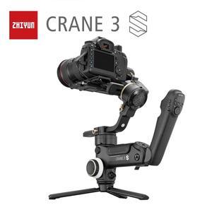 Image 1 - Zhiyun oficjalny żuraw 3S 3S Pro 3S E 3 osiowy ręczny stabilizator Maxload 6.5KG dla czerwonego kina aparat DSLR kamery wideo Gimbal