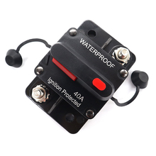 100A 50A 60A 150A 12V 24V DC Car Truck Audio Amplifier Circuit Breaker Fuse Holder AGU Style Stereo Amplifier Refit Fuse Adapter