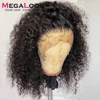 Lockiges Menschliches Haar Perücken Pre Gezupft Mit Baby Haar Remy Peruanische Perücken Glueless 180 Spitze Vorne Menschenhaar Perücken Für schwarz Frauen 13x4