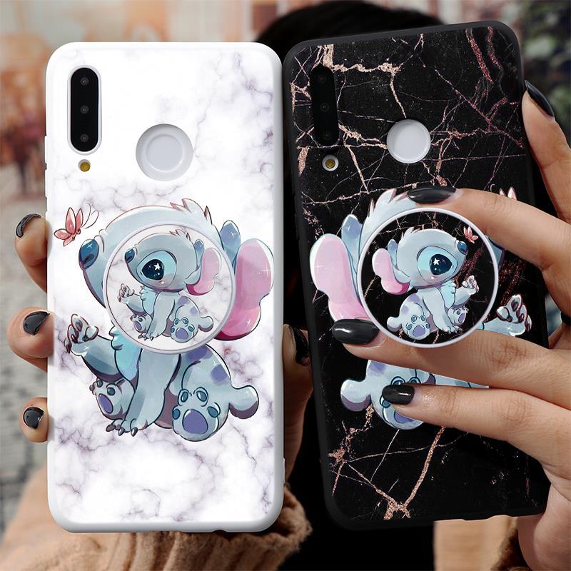 Cartoon Phone Holder Case For Huawei Honor 9S 10I 8X 9X 8A Mate 20 10 P40 P30 P20 Lite Pro Y6 Y7 Y9 P Smart 2019 Z TPU Cover Bag