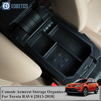 For Toyota RAV4 XA40 2013 2014 2015 2016 - 2018 Accessories Car Central Armrest Storage Box Auto Container Glove Organizer Case image