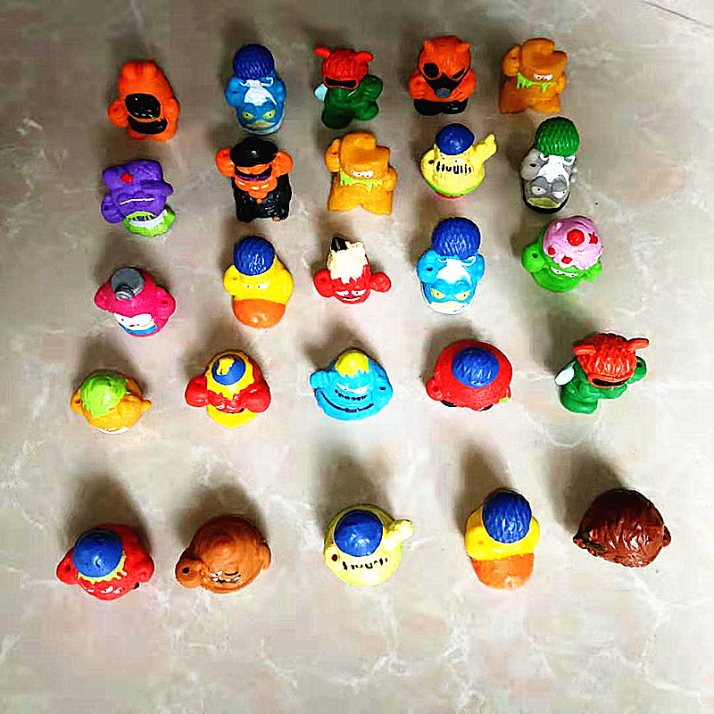 20-50pcs Original Action Figures Dolls 3CM Super Zings Garbage Collection Toys Model For Kids Playing Gift