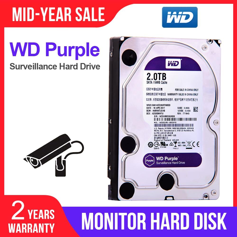 WD Internal HDD Hard-Drive SATA 2TB 64MB for Video-Recorder NVR WD20EJRX Digital Surveillance