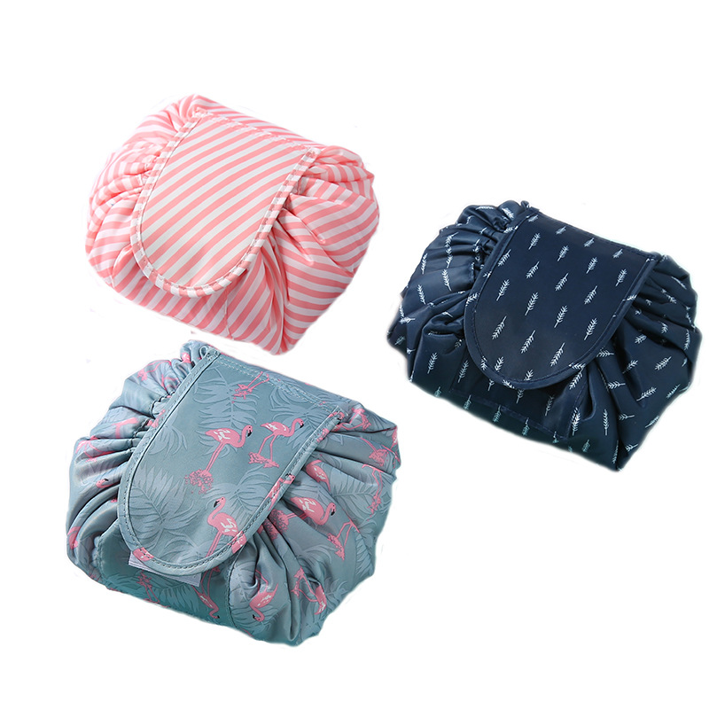 Flamingo Cosmetics Storage Bag Skincare Women Jewelry Lipstick Eye Shadow Brush Drawstring Bag Family Bathroom Tissue Supplies