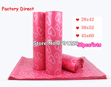 50Pcs/Lot Courier Bags Frosted Pink Heart Pattern Self Seal Adhesive Bag Matte Material Envelope Mailer Postal Mailing Bags