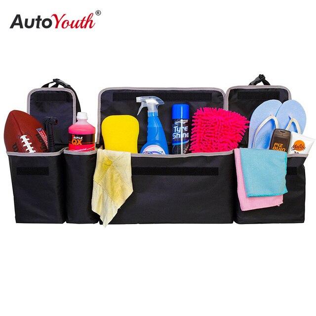 سيارة جذع المنظم المقعد الخلفي حقيبة التخزين قدرة عالية متعددة الاستخدام أكسفورد القماش مقعد السيارة الخلفي المنظمون الداخلية اكسسوارات