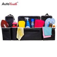 רכב Trunk ארגונית מושב אחורי אחסון תיק קיבולת גבוהה רב להשתמש אוקספורד בד רכב מושב אחורי מארגני פנים אבזרים