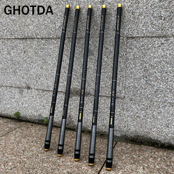 GHOTDA 3.6M-7.2M Telescopic Fishing Rod High Carbon Portable Super Hard Stream Rod