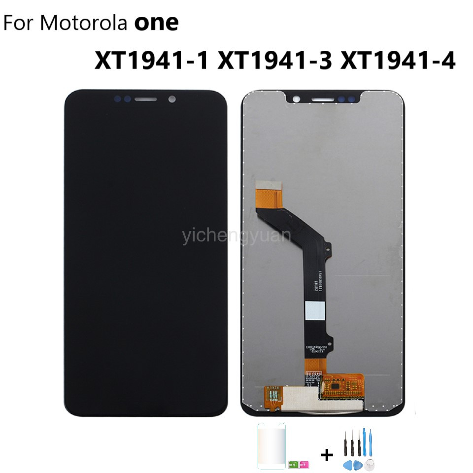 Original For Motorola Moto One P30 Play Display Assemble XT1941-1 XT1941-3 XT1941-4 LCD Display Touch Screen With Frame