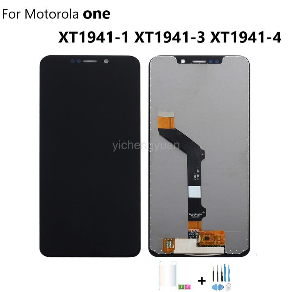 Оригинальный для Motorola Moto один P30 играть дисплей собрать XT1941-1 XT1941-3 XT1941-4 ЖК-дисплей сенсорный экран с рамкой