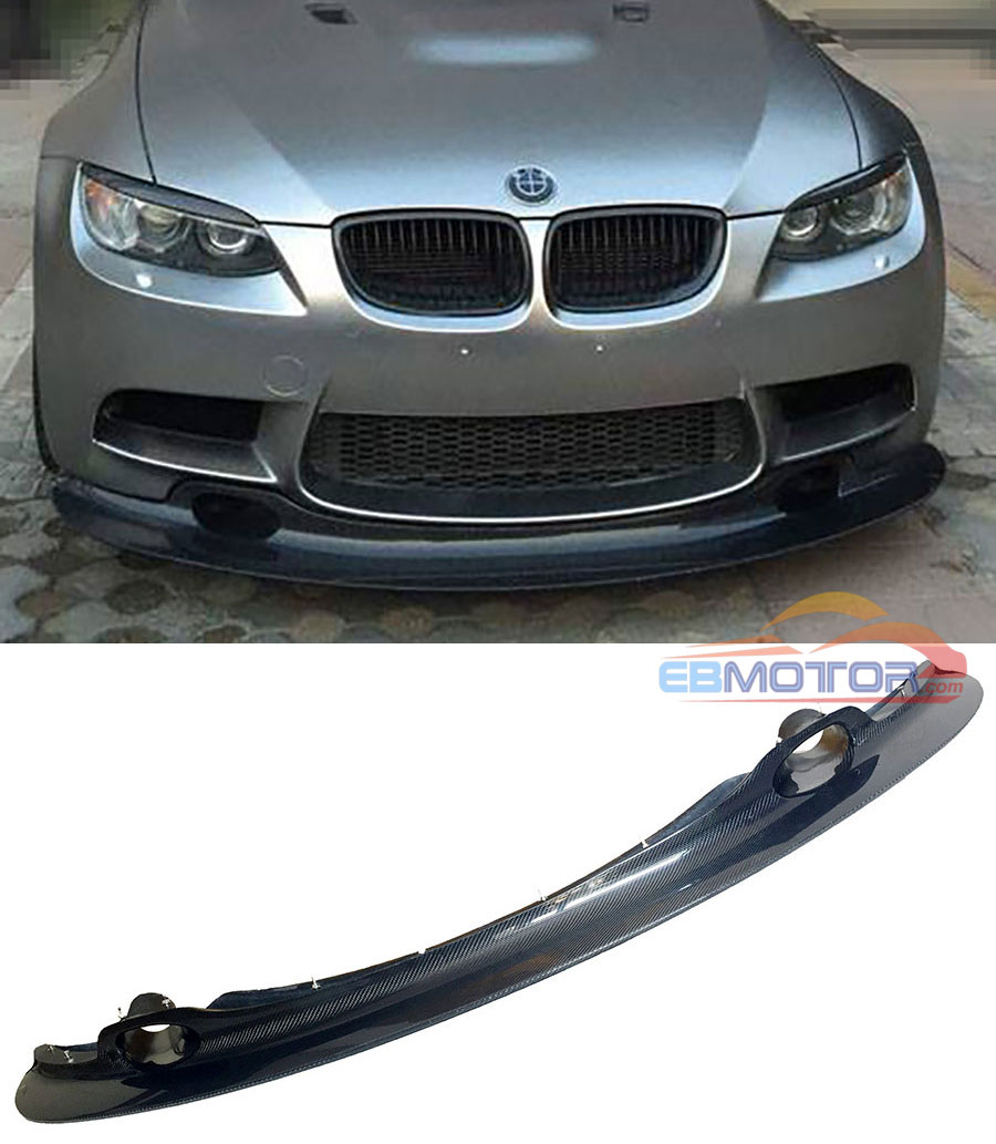 GT4 STYLE REAL CARBON FIBER FRONT LIP SPOILER FOR BMW 3 SERIES E90 E92 E93 M3 Coupe 2008-2013 B296