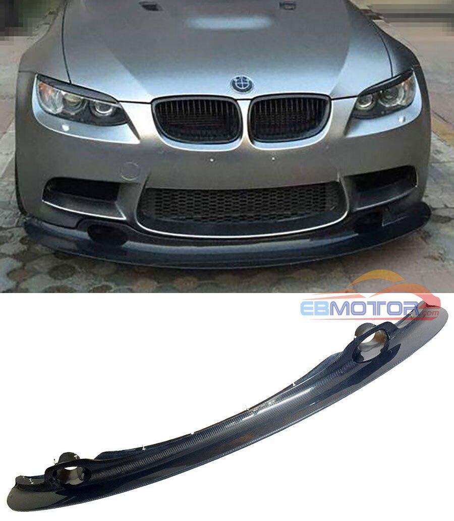 GT4 tarzı gerçek karbon FIBER ön dudak BMW için rüzgarlık 3 serisi E90 E92 E93 M3 Coupe 2008-2013 B296