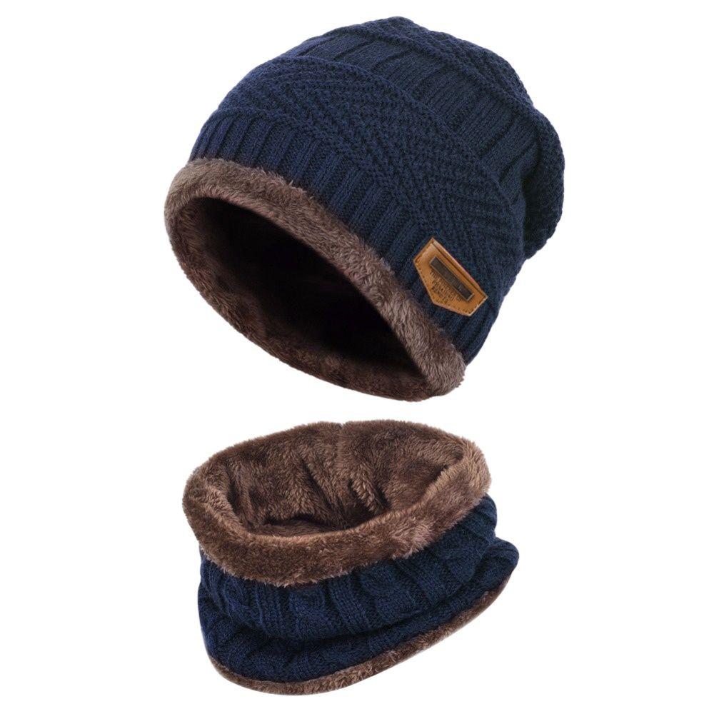 Новинка, комплект одежды из 2 предметов, детская зимняя теплая вязаная шапка с шарфом, Комплект круглые шапки без полей для От 3 до 14 лет Одежд...