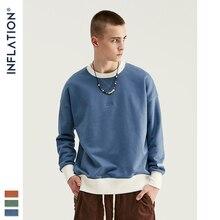 Inflação 2020 design oversized moletom para homem pulôver 100% algodão moletom masculino com logotipo bordado moletom 9604