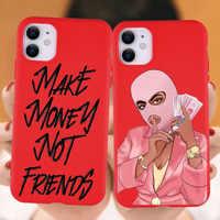 Funda de arte negra Afro para iPhone, 11, 12, XR, XS, Max, X, SE, 7, 8, 6 Plus, 11Pro, Max, para hacer dinero, funda Poppin de melanina
