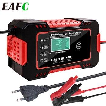 EAFC Volle Automatische Auto Batterie Ladegerät 12V 24V Digital Display Batterie Ladegerät Power Puls Reparatur Ladegeräte Nass Trocken blei Säure