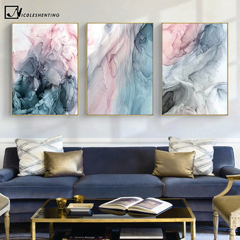 Colorful Ink Abstract Wall Art Canvas Poster and Print Modern Artwork Picture Painting Contemporary Nordic Home Room Decoration dancing butterfly abstract canvas painting wall art poster and print scandinavian decorative picture modern home decoration