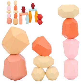 Drewno równoważenie ułożone kamienie kolorowe kamienie drewniane kamienie zabawki budowlane tanie i dobre opinie VBESTLIFE CN (pochodzenie) None Drewna 5-7 lat 14Y 8 ~ 13 Lat Zwierzęta i Natura Stacked Stones
