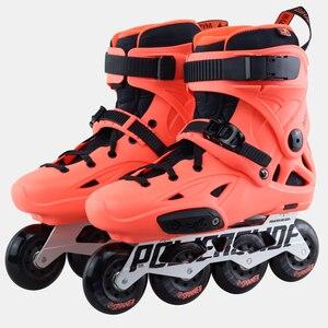 Image 4 - 100% Original 2018 Powerslide Imperial Inline Skates Professional Slalom Inline Skates Roller Free Skating Shoes Sliding Patines