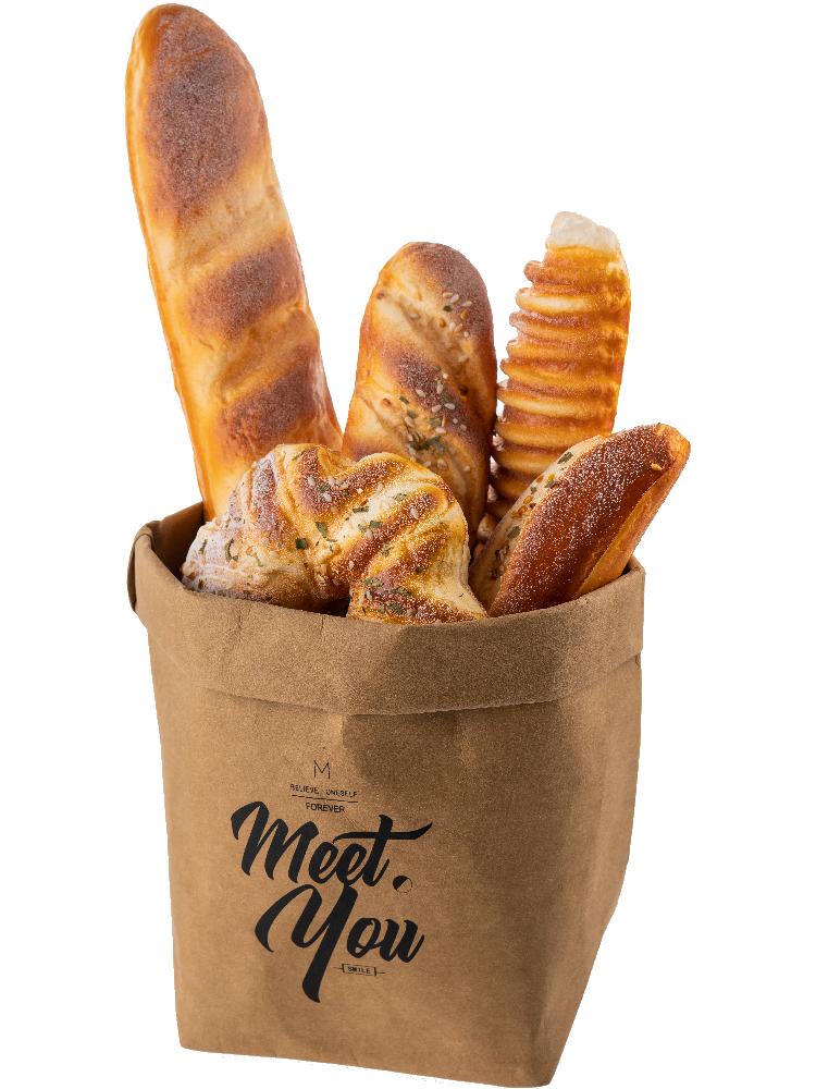 Advanced artificial bread Simulation of European bag of big bread Food photography props baking shop window display
