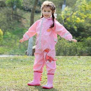 Image 3 - Bebê macacão meninos e meninas à prova dwaterproof água macacões crianças conjuntos de roupas 1 9 anos de idade crianças macacão à prova dwaterproof água