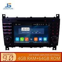 JDASTON Android 9.0 Car DVD Player For Mercedes Benz Sprinter W203 A180 Viano Vito A class GPS Stereo 2 Din Car Radio 4g+64g dsp