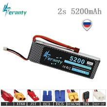 Teranty MAX 50C 7.4V 5200mAh Lipo Battery For RC Car Robots Airplanes Helicopter