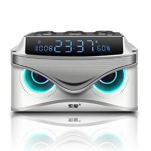SOAIY S68 Mini LED altavoces 25W altavoz inalámbrico Portátil con Bluetooth Smart Bass al aire libre con 3 controladores soporte FM TF envío rápido