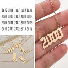 Cxwind 2020 specjalna data rok numer naszyjniki dla kobiet narodziny naszyjnik od 1989 do 2000 łańcuch biżuteria prezent