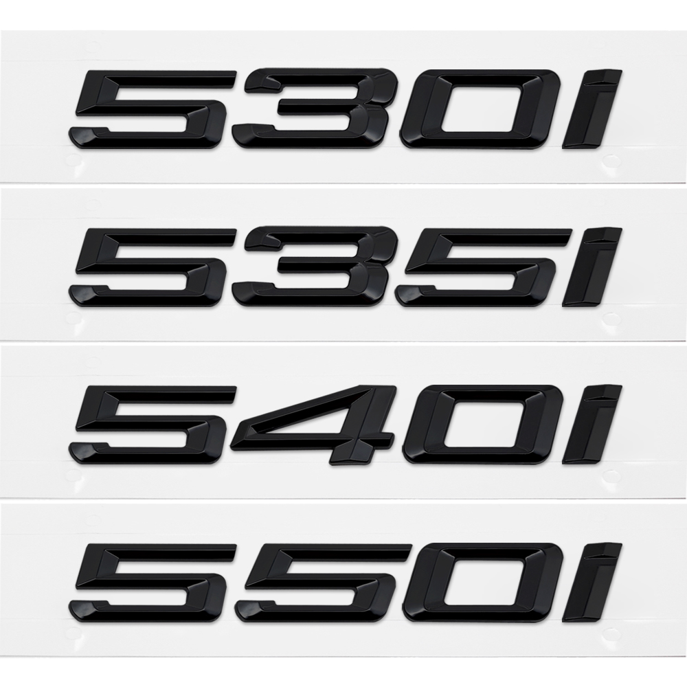525i 530i 535i 540i 550i Trunk Rear Emblems Badge Black Letters For BMW 5 Series F10 F11 F18 F07 E12 E28 E34 E39 E60 E61 G30 G31