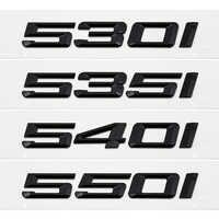 525i 530i 535i 540i 550i Trunk Rear Emblems Badge Black Letters For BMW 5 Series F10 F11 F18 F07 E12 E28 E34 E39 E60 E61 G30 G31
