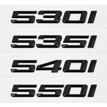 Badges de coffre arrière en lettres noires, badges pour BMW série 5 F10 F11 F18 F07 E12 E28 E34 E39 E60 E61 G30 G31, 525i 530i 540i 550i