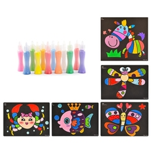 Toy Sand-Painting Toy-Suit Bottles Crafts Gift Arts DIY 12-Color Kids Children's Cartoon