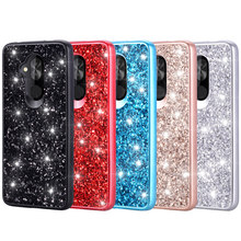 For Alcatel Revvl 2 Plus 7 1X Evolve Case Phone Dual Layer TPU+PC Hybrid Cover Shockproof Anti-scratch Protective Shimmering(China)
