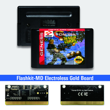 Contra Hard Corps   USA Label Flashkit MD Electroless Gold PCB Card for Sega Genesis Megadrive Video Game Console