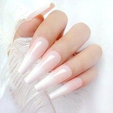 24 шт градиент натуральный французский накладные ногти для Дизайн