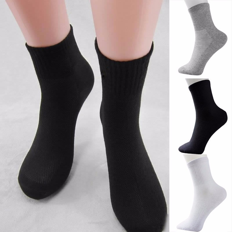 3 Pairs/lot Spring Autumn Men's Long Tube Cotton Socks Men Classic Casual Breathable Sweat-absorbent Deodorant Sports Socks